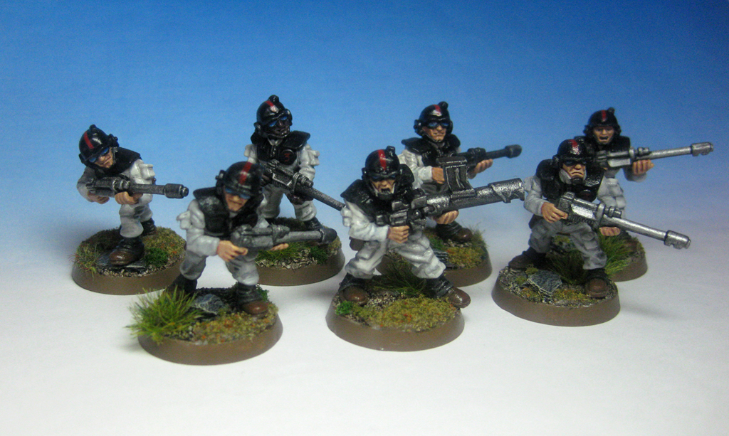 The first 7 Rogue Trader Imperial Guard