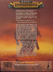 Epic: Armageddon rulebook back cover